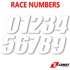 One Industries Motocross Race Bike números SX Estilo Blanco 10.2cm 15.2cm 17.8cm