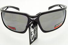 Chill Black Frame Safety Sun Glasses Smoke Mirror
