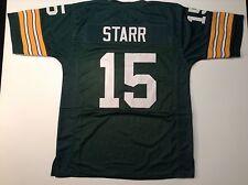 UNSIGNED CUSTOM Sewn Stitched Bart Starr Green Jersey - M, L, XL, 2XL