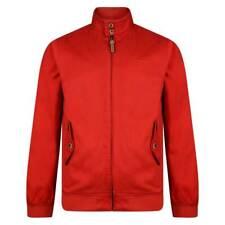 Lambretta Uomo Corallo/rosso Bomber Harrington Mod Ska SCOOTER cappotto giacca