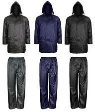 Giacca uomo impermeabile antivento pioggia giacca e pantaloni Set RainSuit Taglia S-4XL