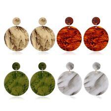 Fashion Leopard Earrings Acetate Dangle Earrings Geometric Round Acrylic Jewelry