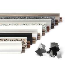 23mm PVC 0.5-3m WORKTOP SPLASHBACK TRIM (FREE screws w. edging) kitchen seal new