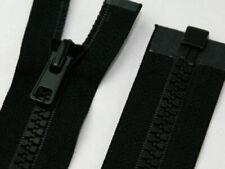 """ZIP open end YKK in Plastica Anti Ruggine 41cm 16 /"""" 10 PESO SCORREVOLE Nero Heavy Duty"""