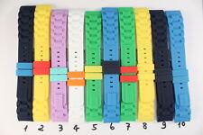 MADISON: 20mm Silikonbänder Rund-Anstoß Uhrenarmband Uhrenarmbänder  Silikon