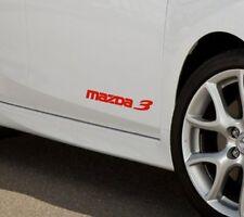 MAZDA 3 Mazdaspeed Hatchback Decal sticker emblem logo RED (PAIR)