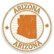 2 x Arizona USA Vinyl Sticker Car Travel Luggage #9288