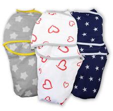 SNUGGLE BABY SWADDLE WRAP BLANKET NEWBORN SOFT SLEEPING BAG 100% COTTON