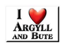 SOUVENIR UK - SCOTLAND FRIDGE MAGNET UNITED KINGDOM I LOVE ARGYLL AND BUTE