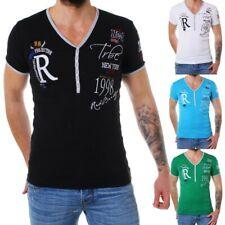 Redbridge T-Shirt mit V-Ausschnitt für Herren Männer Slim Fit mit Stick *