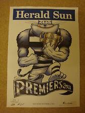 ORIGINAL KNIGHT / WEG POSTER GEELONG CATS PREMIERS 2011 AFL FOOTBALL