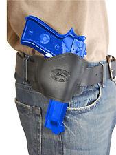 New Barsony Black Leather Gun Quick Slide Holster Astra Beretta Full Size 9mm 40