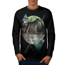 Wolf Wild Spirit Fashion Men Long Manche T-shirt New | wellcoda