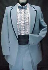 Vintage Light Blue Pique & Navy Boys Tuxedo Jacket or 4pc Tux Retro Many Sizes