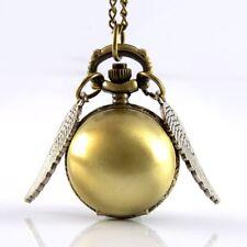 Antique Harry Potter Steampunk Pocket Watch Quartz Pendant Necklace Gift Bronze