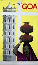 Vintage goa inde tourisme affiche d'impression A3