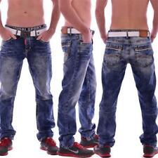 Cipo & Baxx CD 148 Herren Jeans Denim Dicke Nähte Clubwear Vintage Straight blue