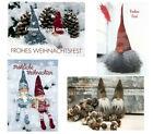 POSTKARTE-Grußkarte-Vintage-Retro-Shabby-Weihnachten-Nikolaus-5092