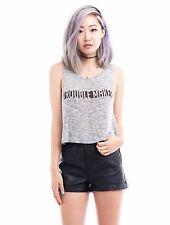 Women's Crew Neck Sleeveless Shirt  Casual Tank Tops Loose T Shirt Blouse