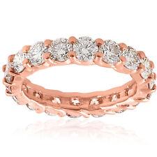 3cttw Diamond Eternity Ring 14k Rose Gold U Prong Womens Wedding Band