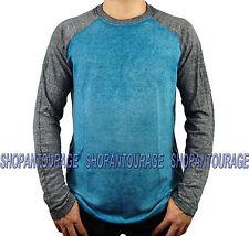AFFLICTION Standard Release A10532 Men`s Long Sleeve Blue/Black Raglan T-shirt