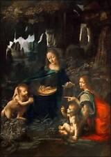 Leonardo da Vinci: Vergine delle Rocce Keilrahmen-Bild Leinwand Jungfrau