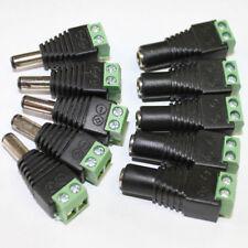 Lot10 12V DC Female Male Power Connector Adapter Plug Jack Socket For CCTV / LED