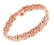Pulsera CADENA BIZANTINA oro rosa doublé brazalete joyería regalo mujer hombre