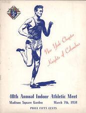 1959 K of C Indoor Athletic Meet Program, MSG