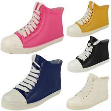 SALE Ladies Spot On Baseball Boots Ankle Wellies Wellingtons F4357 £5.00
