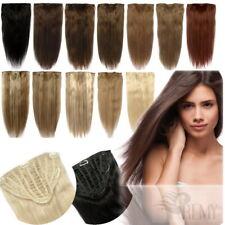 7 Clip Haarteil Halbperücke 70g 25cm Clip In Extensions Tressen Haarverlängerung