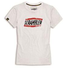 Ducati Scrambler 2015 MOAB T Shirt Short Sleeved Crew Neck white Women's