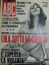""""""" ABC : N° 25 / 18/GIU/1967 - DEBBIE FOX - al verso SOLVI STUBING """" B. BARDOT"""