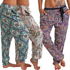 Ligero Pantalones de Verano Playa Harem Aladin Ocio Ali Baba Bombachos Pluder