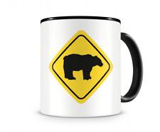 Bären Warnschild Tasse Kaffeetasse Teetasse Kaffeepott Kaffeebecher Becher
