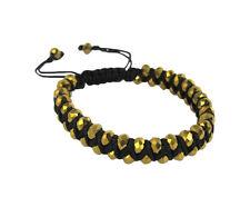 Shamballah 2 Row Faceted Cut Crystal Bead Macrame Bracelet. Trendy Fashion Accs.
