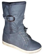 Elegant Sneakers Slouch Stiefel Schuhe khaki schwarz 36 37 38 39 40 41 gefüttert