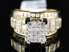 WOMEN ROUND CUT YELLOW GOLD XL DIAMOND ENGAGEMENT BRIDAL WEDDING BAND RING 1.0 C