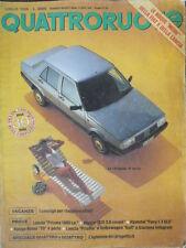 Quattroruote 369 1986 Prove:Lacia Prisma 1600,Jaguar XJS 3.6 coupé
