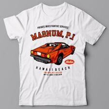 Funny T-shirt - Magnum P.I - classic 80s movie - Ferrari 308 GTS car