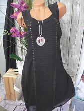 Sheego Eventkleid Kleid Gr. 44 - 48 schwarz Pailletten Kurz Long Größen (764)