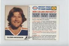 1983-84 ESSO Hockey Stars TV Cash Game #GLAN Glenn Anderson Edmonton Oilers Card