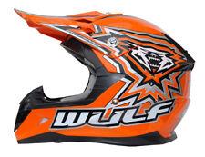 Wulfsport FLITE Child Kids CUB Motocross MX Crash Quad Helmet Orange