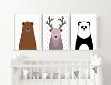 Scandinavian Peekaboo Nursery Animal Prints Pictures Baby Room Decor Ideas