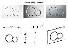 PLACCA GEBERIT SIGMA 01 2 PULSANTI PER CASSETTA INCASSO