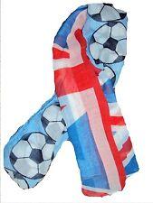 UK FLAG FOOTBAL PRINT English Union Jack  LARGE SCARF/SHAWL/WRAP