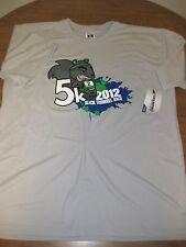 Black Squirrel Race large Ksu polyester T shirt Kent State University 2012