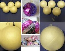 5cm 7cm Polystyrene Christmas Baubles Xmas Craft Balls Plastic or Metal Hangers