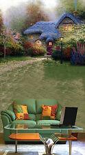 3D Erba Casa 04 Parete Murale Foto Carta da parati immagine sfondo muro stampa