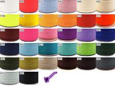 Polyesterkordel 6 mm Ø PE-Kordel in 30 Farben 50 Meter 0,15 EUR//m